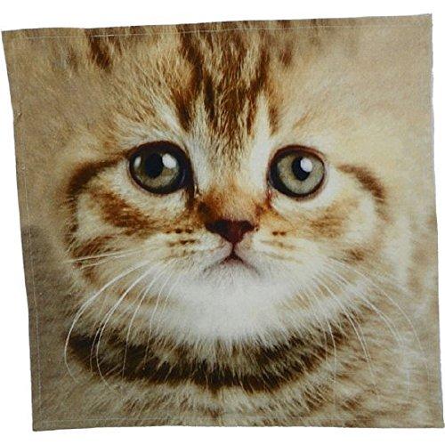 Mars & More Handtuch Katze 50x50 cm 100% Baumwolle
