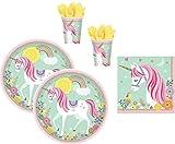 WOK unicorno magico festa di compleanno bambini decorazione per 16 bambini