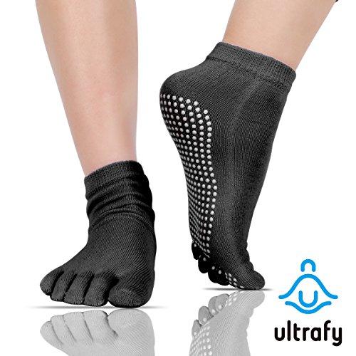 ultrafy-yoga-socks-pure-combed-cotton-non-slip-elastic-breathable-shrink-resistant-grip-pilates-barr