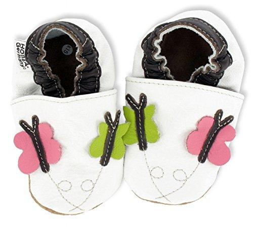 HOBEA-Germany Krabbelschuhe Erdbeere, Chaussures Bébé quatre pattes (1-10 mois) mixte bébé Schmetterline