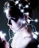 Samgu 2M LED Lichterkette 20 LED Weiß Außenbeleuchtung für Party Garten Weihnachten LED Beleuchtung