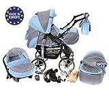 Kamil - Landau pour bébé + Siège Auto - Poussette - Système 3en1, incluant sac à...