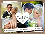 Personalised Wedding Thank You Cards (Design Code: WTY 15) pack of (100)