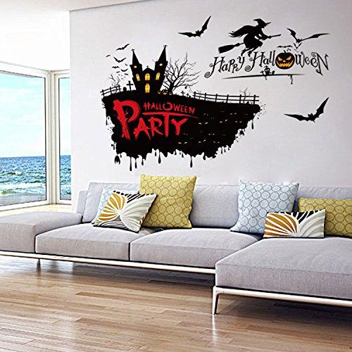 Wand Aufkleber Mode Wandtattoos Umweltschutz Wandbild Dekoration Flugzeug Dekoratives Material Wallpaper Halloween Schrecklichen Hexe Kann Neben PVC 50 * 70 cm, 50 * 70 cm ()