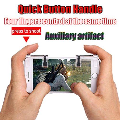 Fanxing 1 Paar Handy Spiel Controller Sensitive Shooting & Target Tasten Gaming Shooter Trigger L1R1 für PUBG Smartphone - Shooting Target Kunststoff
