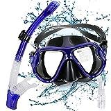 Gifort Snorkel Set, Snorkel Mask, Snorkeling Mask with Tempered Glass, Anti-fog Diving Mask