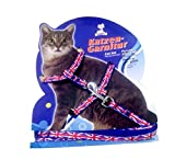 #5: Pets Empire Fancy Pattern Cat Harness Leash, Adjustable H harness Nylon Strap Collar with Leash, Kitten Leash and Harness Set, For Small Cat and Pet 1 Set Color May Vary