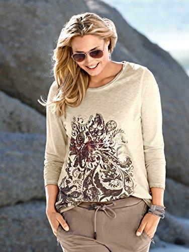 Damen Shirt aus reiner Baumwolle by MIAMODA Beige