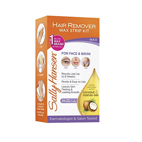 SALLY HANSEN Hair Remover Wax Strip Kit for Face - SH2035 -