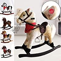 Infantastic Rocking Horse for Kids - with Sound Effects, Height 64 cm, Choice of Designs - Horse Toys, Pony Horse, Wooden Horse, Cowboy Horse, Soft Toys, Wooden Toys
