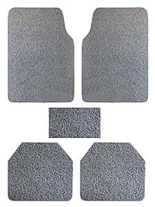 Vheelocityin 74017 Premium Grey Noodle Car Foot Mat for Maruti Swift (Set of 5)