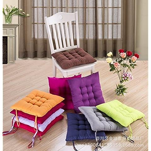 GG Tinta Unita levigato studente sedia cuscino sedia cuscino imbottito caldo tatami tappetini Seat Covers Orange