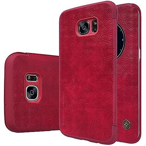 Nillkin, Qin Leder Fall für Samsung Galaxy S7Edge–Rot