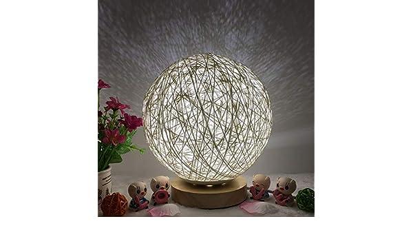 Mode Rotin Boule Veilleuse USB De Charge Romantique Lampe De