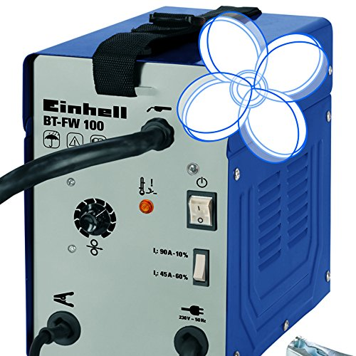 Einhell Fülldraht Schweißgerät BT-FW 100 (31 V, inkl. Masseklemme, Brenner, Ventilatorkühlung, Schweißschirm, Schlackenhammer, Trageriemen) - 4