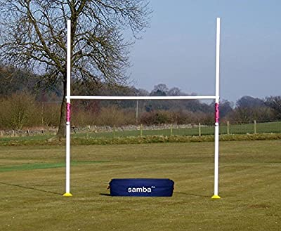 New Samba 9ft 6in Wide x 12ft High Rugby Post and Crossbar with Carry Bag by Samba Sports
