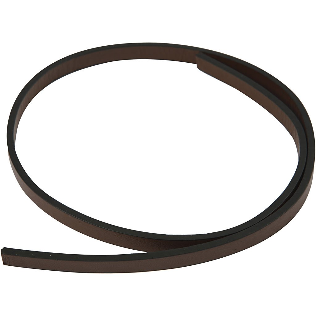 Cintura di finto cuoio, l: 10 mm, marrone, 1m