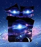 3d - betten sind mysteriöse himmel nacht duvet cover - set bettwäsche kosmos nebel star - universum,012,kleine drei stücke