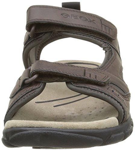 Geox Sandal Strada A, Sandales Plateforme homme Marron (C6024)