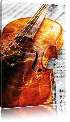 wunderschne-Geige-auf-Notenblttern-schwarzwei-Format-80x120-auf-hochkantiges-Leinwand-XXL-riesige-Bilder-fertig-gerahmt-mit-Keilrahmen-Kunstdruck-auf-Wandbild-mit-Rahmen-gnstiger-als-Gemlde-oder-lbild