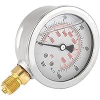 """Akozon Medidor de presión de agua 0-600Bar G 1/4""""63mm de escala dual Manómetro de presión del neumática e hidráulica"""
