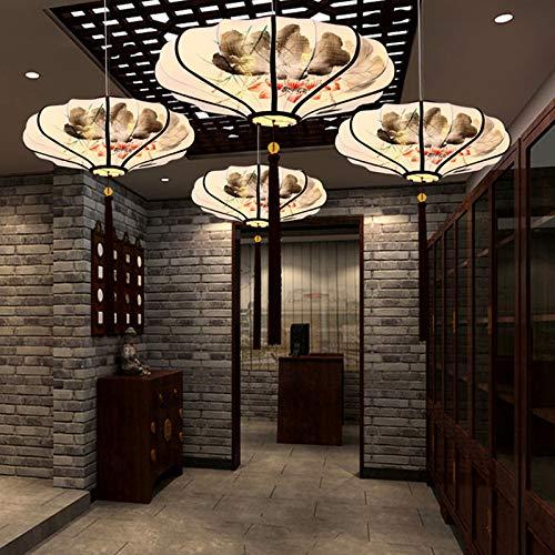 LED Anhänger Beleuchtung chinesischen Kronleuchter gelten für zeitgenössische Wohnzimmer Schlafzimmer Esszimmer handgemalte Stoff Laterne Form