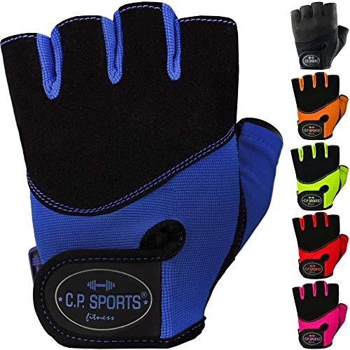 C.P. Sports Iron-Handschuh Komfort farbig Trainingshandschuh Fitness Handschuhe für Damen und Herren Blau M