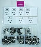 """52 pezzi, filetti Helicoil riparazione di filettature, in acciaio INOX-Set di inserti, 1/4-3/8 """""""