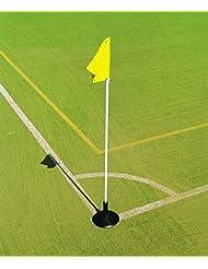 flexipole frontera Marcador Post banderas bandera de fútbol en entrenamientos deportivos nailon sólo, amarillo