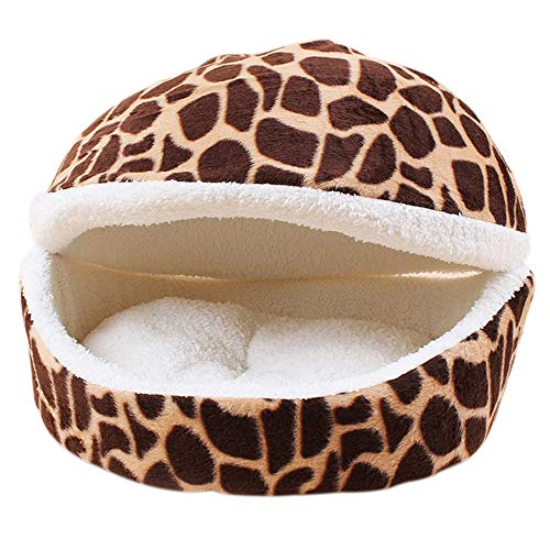 MENGZHEN 1 STÜCK Hundebett Katzenmatte Shell Shaped House Winddicht Abnehmbare Haustierbett Thermische Versteck Hund Schlafsack