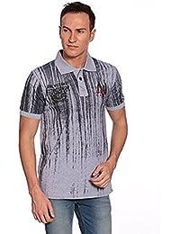 27Ashwood Tshirts For Men Branded,mens Tshirt Half Sleeve,branded T Shirts For Men, Men's Grey Melange Collar...