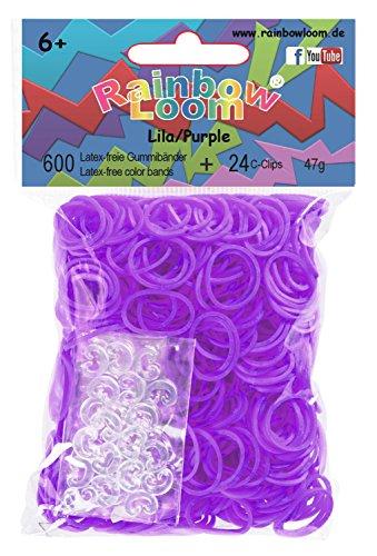 Rainbow Loom 20792 - Original Gummibänder, 600 Bänder mit 24 C - Clips, lila