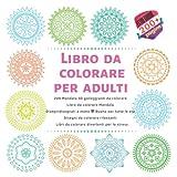 Libro da colorare per adulti 200 Mandala 3D galleggianti da colorare - Libro da colorare Mandala - Disegni disegnati a mano - Buono per tutte le età - ... - Libri da colorare divertenti per lo stress