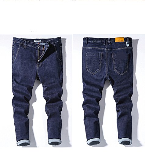 Swallowuk Herren Mode Klassik Slim Fit Straight Leg Jeans blau