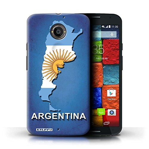 Kobalt® Imprimé Etui / Coque pour Motorola Moto X (2014) / Amérique/Américain/USA conception / Série Drapeau Pays Argentine