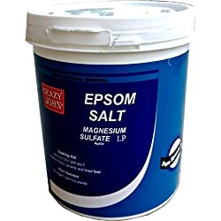 Crazy John 100% Pure Epsom Salt 1Kg Relaxation And Pain Relief & Garden (Magnesium Sulfate Usp)
