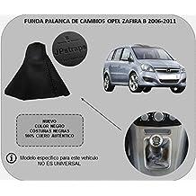 Funda Palanca de Cambios 100% Piel Color Negro Compatible OPELZAFIRAB (2006-2011)