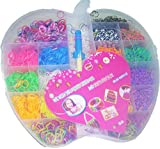 #6: Neo Gold Leaf Applefun Amazing Loom Bands Deluxe Edition, Multi Color (5500 Pcs)