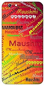 Maushmi (Monsoon wind) Name & Sign Printed All over customize & Personalized!! Protective back cover for your Smart Phone : Sony Xperia C-5 Ultra