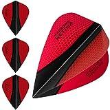 Darts Corner Harrows Retina Lot de 5 jeux (15) d'ailettes de stabilisation triangulaires extra résistantes pour fléchettes 100micronsRouge