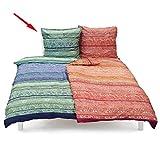 Bassetti Feinste original Bettwäsche, Bettdeckenbezug: ca. 140cm x 200cm, Kissenbezug: ca. 70cm x 90cm, 100% Reine Baumwolle, Verschiedene Modelle zur Auswahl (Montalcino V3) in