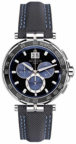 Michel Herbelin Mens Newport Yacht Club, noir, bleu 36656/AN65