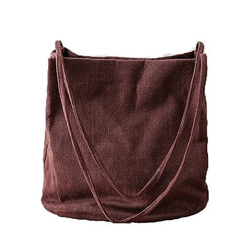 YAAGLE Damen Canvas Schultertasche groß Handtasche Baumwolletaschen Shopper schlicht schulterbeutel