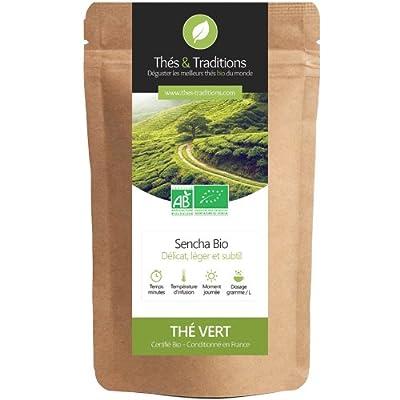 Thés & Traditions - Earl Grey Sencha Bio - Thé vert | 100g