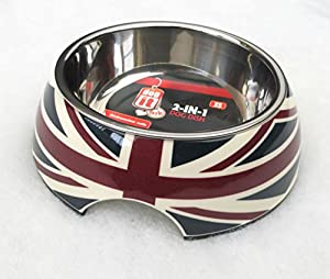 Dogit Union Flag 2-in-1 Dog/ Cat Bowl
