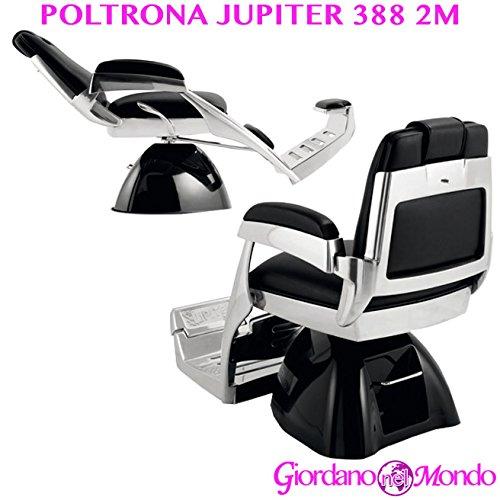 Poltrona barbiere con schienale reclinabile e girevole sedia 2m jupiter 388 arredamento ceriotti