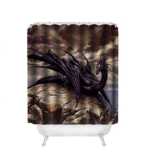n Dragon Wasserdicht Polyester Shower Curtain Duschvorhang 167cm x 183cm ()