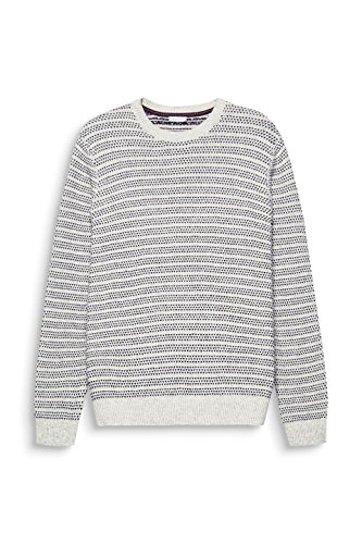 ESPRIT Herren Pullover Weiß (Off White 110)