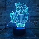 Fish Tank Forme 3D Night Light LED Illusion USB Night Light Lampe de bureau Décor À La Maison Cadeau de Vacances Ambiance Décor Lampe ## 8