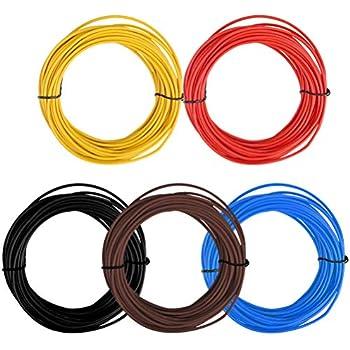 i Germany 0,44€//m KFZ LKW Kabel Litze Leitung Flexible FLRy 1,0mm² 5m Schwarz M